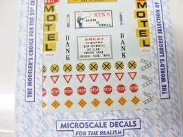 Microscale Decals Stock #87-275 Structure Signs and Street Signs (1950s-1980s) image 2