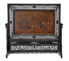 wholestoreSALE Chinese Lacquer Drawing Writing Table Top Screen Display ... - $3,360.00