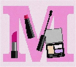 pepita Letter M Makeup Needlepoint Kit - $93.00
