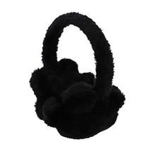 Adjustable Unisex Winter Earwarmers Star Fur Earmuffs - Black - $13.17