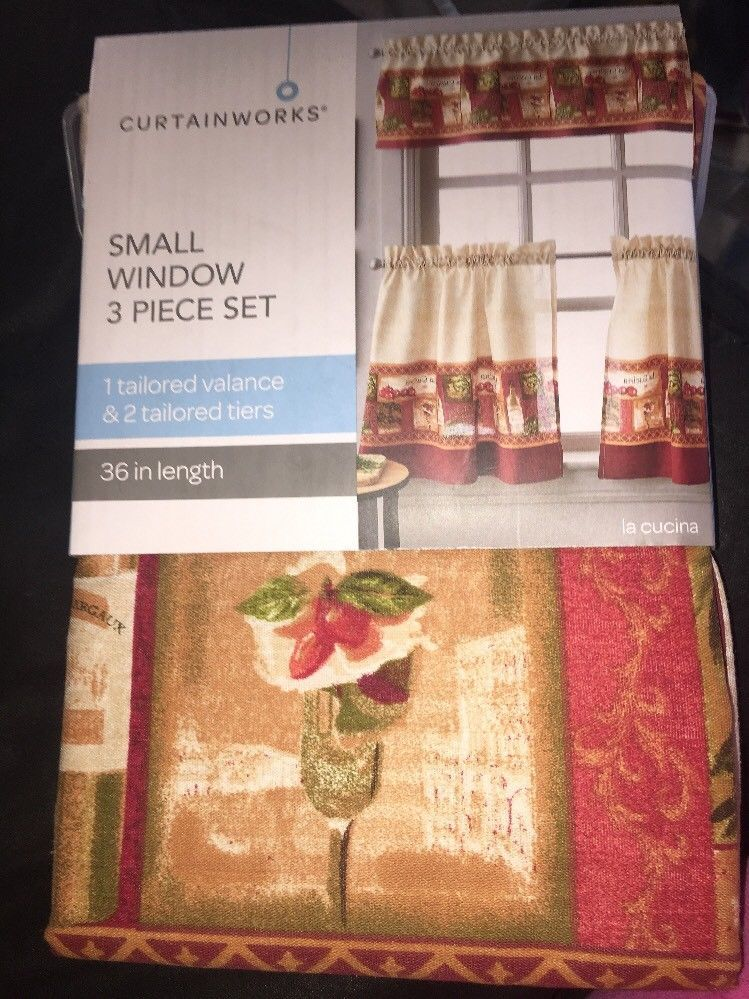 Primary image for curtain window la cucina small window 3 piece 36 in
