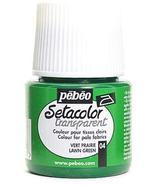 Pebeo Setacolor Transparent Fabric Paint (Lawn Green) 2 pcs sku# 1849409MA - $29.91