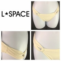 L Space Sensual Solids Side Loop Off White Cream Bikini Bottoms Womens  XS - $19.80
