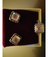 Sterling Silver Pink Quartz Post Earrings/ Ring - Stamped 925 ~Ag  John... - $172.03