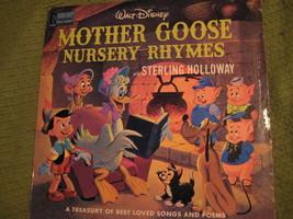 33RPM Vintage 1964 Original MOTHER GOOSE Nursery Rhymes Walt Disney - $12.52