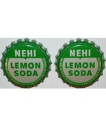 Soda pop bottle caps NEHI LEMON SODA Lot of 2 cork lined unused new old ... - $5.99
