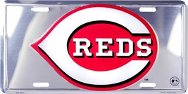 MLB Cincinnati Reds Chrome Metal License Plate ... - $5.95
