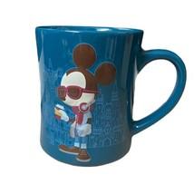 Disney Parks Hipster Mickey's Really Swell Coffee Brand Dark Blue Mug - $24.24