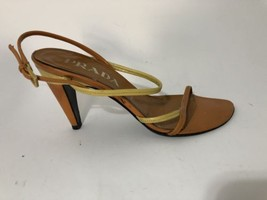 Prada Orange And Yellow Strappy Heels - $82.12