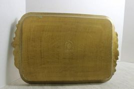 "Italian Florentine Handmade Wooden Tray Wood Orange & Gold 17"" x 11 image 4"