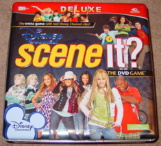 Scene It Dvd Game Deluxe Disney Channel Tin Screenlife 2008 Complete Excellent - $30.00