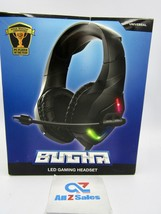 Bugha Exclusive LED Gaming Headset w/Boom mic, 3.5mm aux-in + PC Connector - $19.75