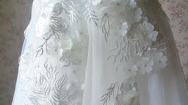 WHITE Lace Tutu High Waist Dress White Knee Length Wedding Flower Girl Dress NWT image 6