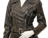 Vintage style leather biker jacket 01  2  thumb155 crop