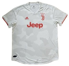 NEW Adidas Juventus 19/20 Authentic Raw White Red Away Jersey DW5462 Siz... - $79.19