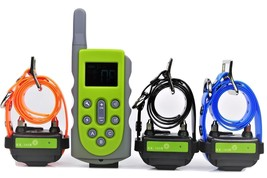 650 Yard Waterproof Rechargeable Obedience Remote 3 Dog Training Shock  ... - $122.45
