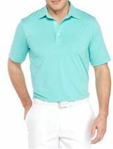 NEW Greg Norman Men's ML75 Luxury Microfiber Short Sleeve Polo Aqua