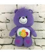 Care Bears Harmony Bear Plush Purple Teddy Stuffed Animal Soft Toy Hasbro 2010 - $14.84