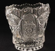 Toothpick Holder c.1910 Imperial Glass Daisy and Button Clear Glass - $8.59