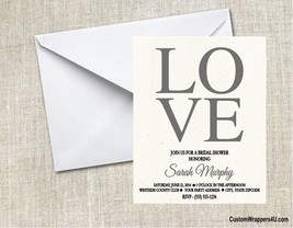 Wedding Bridal Shower LOVE ANY COLOR Party Invitations Personalized Custom - $0.99+