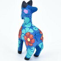 Handmade Alebrijes Oaxacan Wood Carving Painted Folk Art Mountain Goat Figurine  image 3