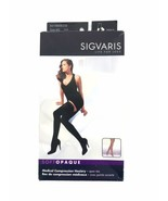 Sigvaris 841NM Soft Opaque 35 Open Toe Thigh Compression Stockings Silicone MS - $41.97