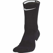 Nike Elite Basketball Crew Socks (Large|Black/White) - $23.34