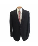 Vintage 1960s Lord West Men's Black Shawl Collar Tuxedo Jacket Union Mad... - $55.78
