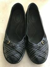 Clarks Women's Bendables Recent Kiko Black Flats Size 8.5 - $21.49