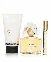 Marc Jacobs Daisy EDT Spray 3.4 Oz + Body lotion 5.1 Oz + Mini EDT Spray Set image 2