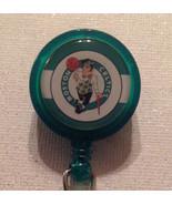 Nba Boston Celtics Badge Reel Id Holder Green Alligator Clip Handmade New - $8.99