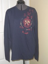 IZOD JEANS MEN'S CASUAL SHIRT SIZE M NAVY BLUE LONG SLEEVES  NWT - $15.98