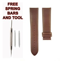 22mm Brown Leather Watch Strap For Emporio Armani AR0387 530ARM - $34.65