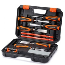 Premium REXBETI 10pc Premium Wood Chisel Set, 6pcs with 1 Honing Guide - $48.61