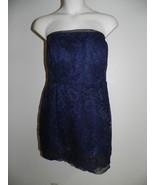 Davids Bridal Dress Size 2 Marine Navy Strapless Lace Bridesmaid NWT $149  - $72.57