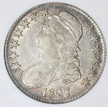 1827 Capped Bust Half Dollar Square Base 2 - NGC XF-45 - Extra Fine 45 - $252.45