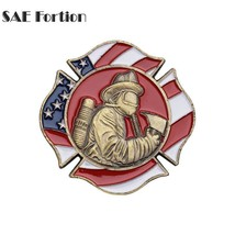 Irregular Figure Colorful Fire Department Logo Coin Memorial Souvenir Gift - $11.99