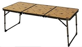 Kazmi Outdoor foldable Camping Table 2 Levels Height adjustable