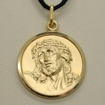 CIONDOLO MEDAGLIA ORO GIALLO 750 18K, VOLTO DI CRISTO, ECCE HOMO, JESUS image 2