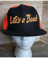 "True Vintage 80s 90s ""LIFE'S A BEACH"" Snapback Trucker Hat NEON Retro Ca... - $38.69"