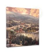 Thomas Kinkade Sunset on Snowflake Lake 14 x 14 Gallery Wrapped Canvas - $89.00