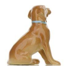 Hagen Renaker Dog Labrador Retriever Sitting Golden Ceramic Figurine image 5