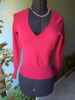 cc1361d142d52b Banana Republic Pink Fine Italian Merino Wool V-neck Sweater Top Blouse  Size M