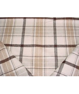 Robert Allen 259439 Plaid Affair Carob Brown Wool Tartan Upholstery Fabric - $29.70