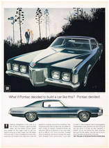 Vintage 1969 Magazine Ad Pontiac Grand Prix On Its Own One-Of-A-Kind Cha... - $5.93