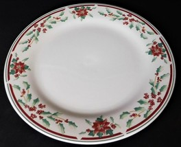 Majesticware Sakura Poinsettia Delight Christmas Holiday Serving Chop Pl... - $32.66