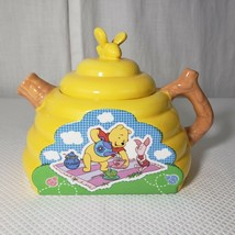 Disney Winnie The Pooh Tea Pot Beehive Bee Piglet Ceramic Houston Harvest - $51.94