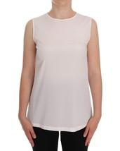 Dolce & Gabbana White Silk Sleeveless Top Blouse - $216.45