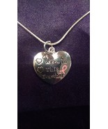 """""""We're in this Together"""" Breast Cancer Pendant on a 925 Sterling Silver ... - $8.99"""