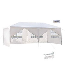 VINGLI 10'x20' Outdoor Canopy Party Tent,with 6 Removable Sidewalls,Spri... - $98.91